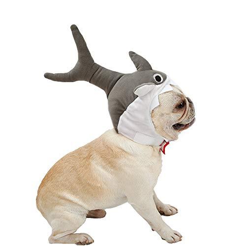 Coppthinktu Pet Shark Hat Cute Halloween Cat Dog Shark Costume Headdress Pets Plush Cap -