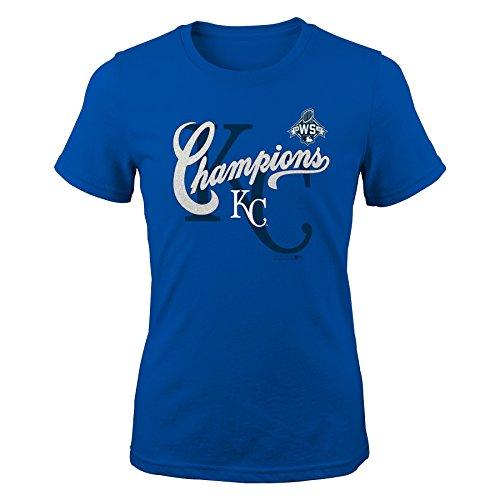 - Outerstuff MLB Kansas City Royals Girls 7-16 World Series Tee, Medium (10-12), Royal