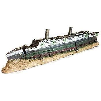 Amazoncom Zoele Titanic Lost Wrecked Boat Ship Aquarium