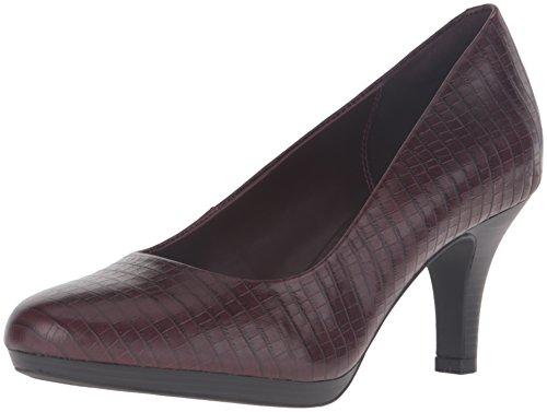 Pump Maple CLARKS Dress Brenna Burgundy Crocodile Womens CLARKS Leather Womens q4IYwrPIp