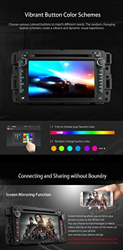 XTRONS 7 Inch Android 6.0 Octa-Core Capacitive Touch Screen Car Stereo Radio DVD Player GPS CANbus Screen Mirroring Function OBD2 Tire Pressure Monitoring for GMC Chevrolet by XTRONS (Image #5)
