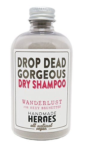 All Natural Vegan Dry Shampoo - Drop Dead Gorgeous Dry Shampoo Powder for Dark Hair Brunettes