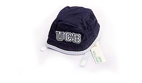 The United Colors of Benetton - Sombrero - para bebé niño Navy Blue and White: Amazon.es: Ropa y accesorios