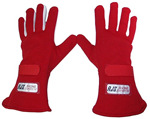 E RED SINGLE LAYER NOMEX DRIVING GLOVES, RACING GLOVES HAVE SFI SPEC OF 3.3/1, COMFORTABLE, DURABLE, AND SAFE FOR THE RACER, GREAT FOR NUMEROUS TYPES OF RACING AND OFF-ROAD APPLICATIONS (Racing Spec Type)