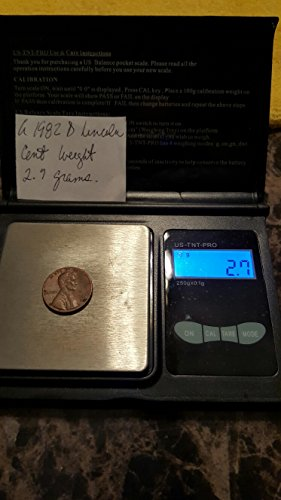 (A 1982 D Lincoln Cent!!! Weight 2.7 Grams!!!)