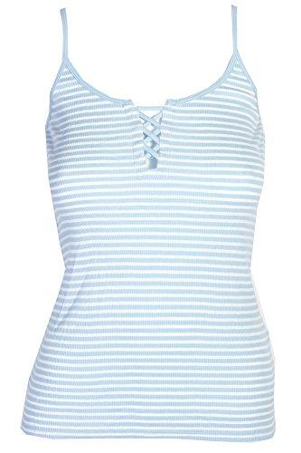 Denim & Supply Ralph Lauren Striped Lace-Up Camisole Marine Stripe Saranac Antq WH XL