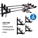 Cheap Fishing Rod Racks Fishing Rod Storage Rack Ultra Sturdy Fishing Rod Wall Holder – Space Saving  Organizer for Fishing Rods, Hiking Poles, Ski Poles, Hockey Sticks and Cue