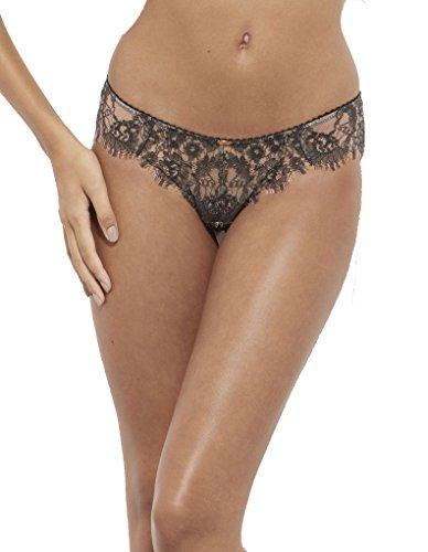 Gossard 12603 Women's VIP Lace Dark Romance Charcoal Grey and Blush Brief