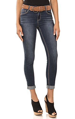 Angels Jeans Womens Embroidered Skinny