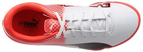 Puma Evospeed 5,5 Tt Jr Chaussure de Football Noir/Blanc/Rouge Blast 13,5 J