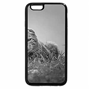 iPhone 6S Case, iPhone 6 Case (Black & White) - Lazy and angry