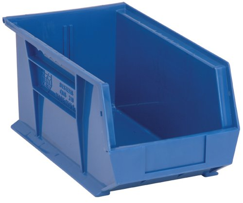 - Quantum QUS240 Plastic Storage Stacking Ultra Bin, 14-Inch by 8-Inch by 7-Inch, Blue, Case of 12
