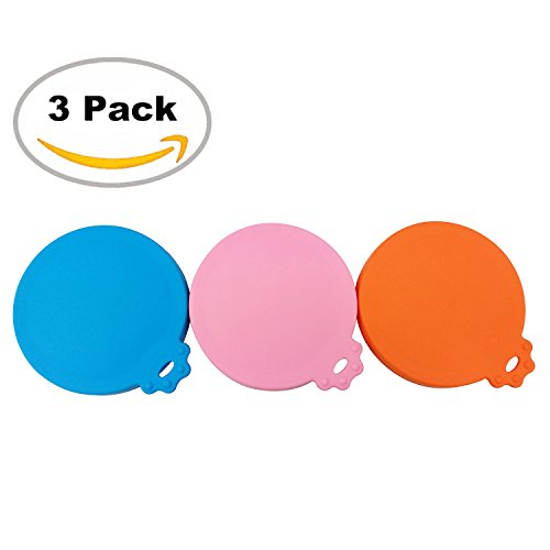 Pet Food Can Lids (SACRONS-Can Covers/3 Pack/Universal Silicone Food Can Lid Cover for Pet Food/Fits Most Standard Size Dog and Cat Can Tops)