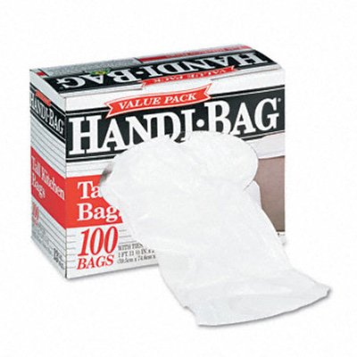 Webster Handi-Bag Super Value Pack Can Liners - Handi-Bag Waste Liner 13Gl 0.6Mil 100/Box