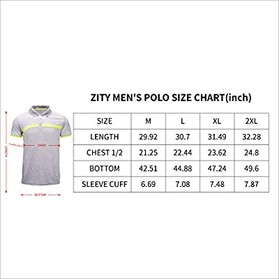 ZITY Men's Polo Shirt Cool Quick-Dry Sweat-Wicking Color Block Short Sleeve Sports Golf Tennis T-Shirt