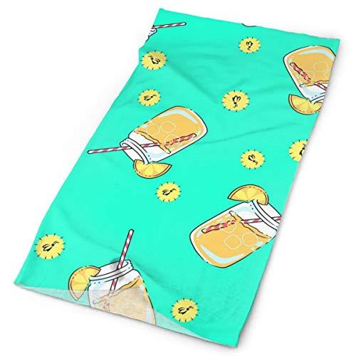 (Lemon Drink Unisex Fashion Quick-Drying Microfiber Headdress Outdoor Magic Scarf Neck Neck Scarf Hooded Scarf Super Soft)