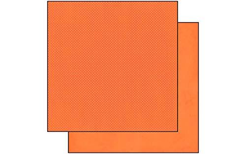 Bo Bunny DD Double Dot Paper 12x12 Tangerine, ()