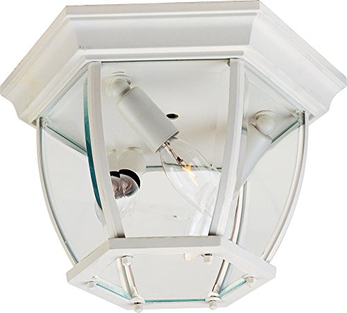 White Outdoor Flush Mount Light