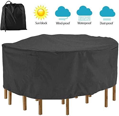 家具カバー ファニチャー 庭の家具パティオテーブル&チェアセット(152 * 58センチメートル、ベージュ+コーヒー)のためのキューブカバーダイニング防水アンチUVヘビーデューティ420Dオックスフォード生地スクエアラタンカバー ガーデン 庭用保護カバー シャンボ14011 (Color : Black, Size : 152*58cm)