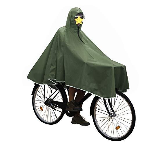 Anyoo昼と夜の間に自転車の乗りバイクに乗っ男性女性をハイキングアウトドアキャンプに適した軽量防水透湿再利用可能なポンチョを多使用四季