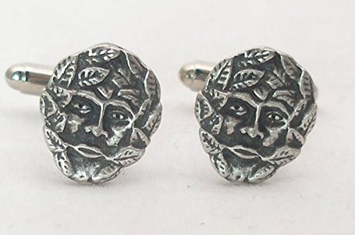 Green Man Pewter Cuff Connectors - Gift Boxed for $<!--$39.99-->