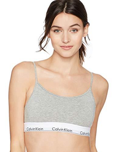 Calvin Klein Women's Regular Modern Cotton Bralette, Grey Heather, ()