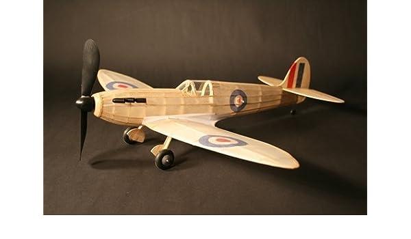 Amazon com: Spitfire complete vintage model rubber-powered