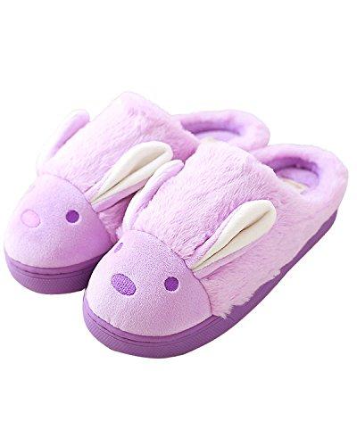 Minetom-Donne-Pantofole-Calde-Autunno-Inverno-Morbido-Scarpe-Antiscivolo-Casa-Cartone-Animato-Slippers