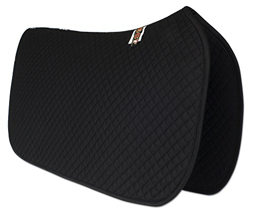 ECP Western All Purpose Diamond Quilted Cotton Saddle Pad Color Black ()