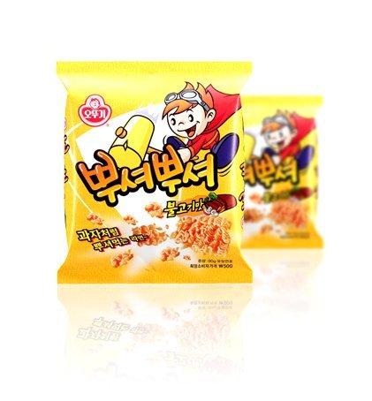 Price comparison product image Korean Smash Noodle Snack (Bulgogi) Flavored 90g*3ea