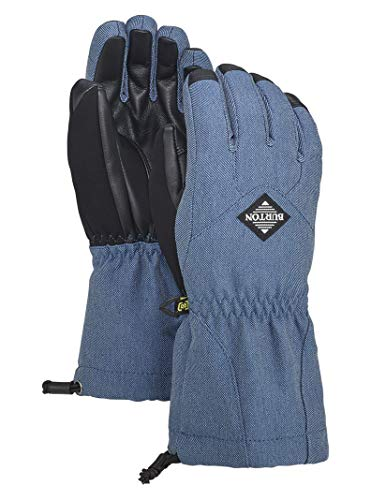 Burton Kids' Insulated, Warm and Waterproof Profile Gloves with Touchscreen, Light Denim, X-Small