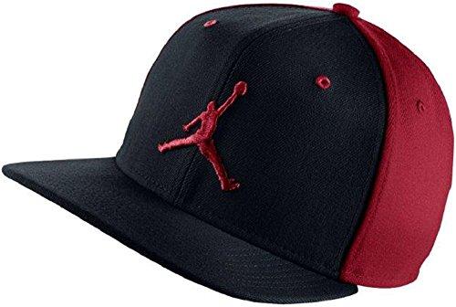 e4e09759bf8d Nike Mens Air Jordan Jumpman Snapback Hat Black Gym Red 619360-010