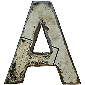 Whirled Planet Recycled Steel Metal Letter A, 8-Inch