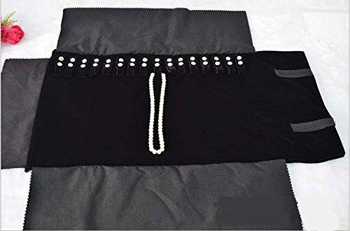 Gioielli Rotolo Origanizer collane del braccialetto del supporto di immagazzinaggio scomparti borsa A-goo