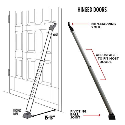 Guard Dog Security Door Jammer, Adjustable & Sliding Patio Door Security Bar - Lightweight by Guard Dog Security (Image #1)