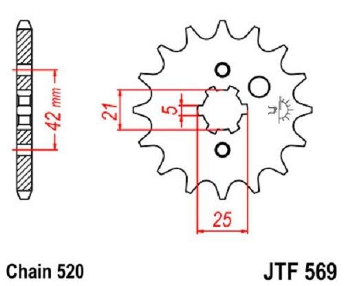 JT Sprockets JTF569 10 JTF569 10T