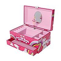 GirlZone: Unicorn Jewelry Box, Ballerina Music Box for Girls
