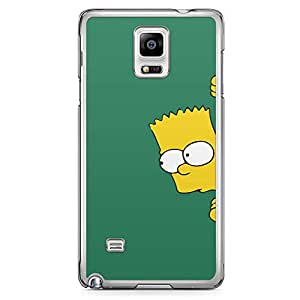 Loud Universe The simpsons Samsung Note 4 Case Hiding Bart simpson Samsung Note 4 Cover with Transparent Edges
