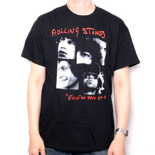 Main Stone - Old Skool Hooligans Rolling Stones T-Shirt Exile On Main Street Photo 100% Official XX-Large black