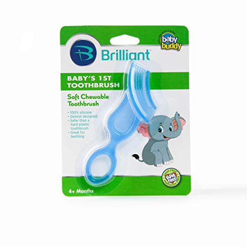 Baby Buddy Baby's First Toothbrush, Blue