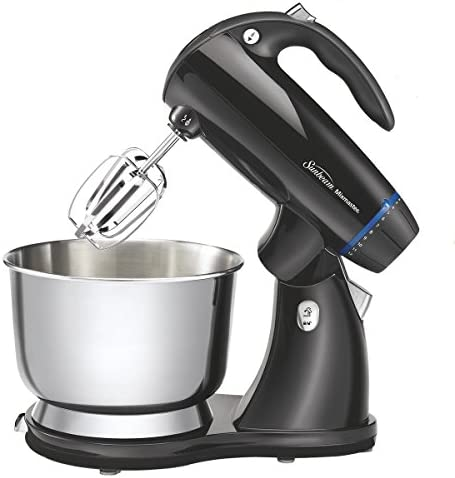 Sunbeam 2594 350-Watt MixMaster Stand Mixer with Dough Hooks and Beaters, Black Renewed