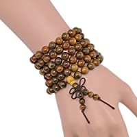 ERAWAN Green Sandalwood Buddhist Buddha 8mm 108 Prayer Beads Mala Bracelet Necklace EW sakcharn