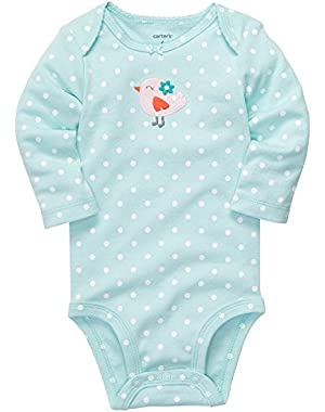 Baby Girls' Long Sleeve Dot Bodysuit