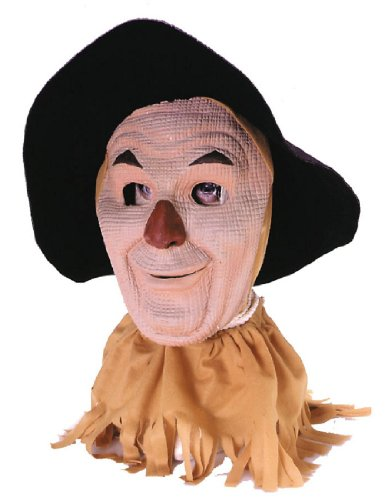 [Wizard Of Oz Scarecrow Mask, Tan, Adult] (Adult Deluxe Scarecrow Costumes)