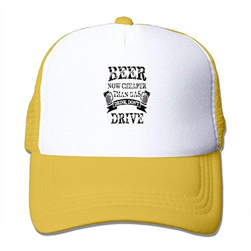Gas Cap Drive (DHKdhjfdv Beer Now Cheaper Than Gas Drink Don't Drive Run Cap Cute Adjustable Cotton Floral Baseball Cap)