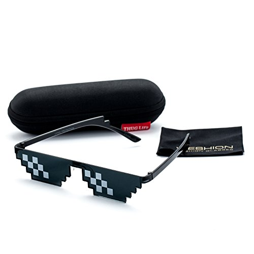 Deal With It Sunglasses Men Thug Life Minecraft Polygonal 8 Bits - Review Running Sunglasses