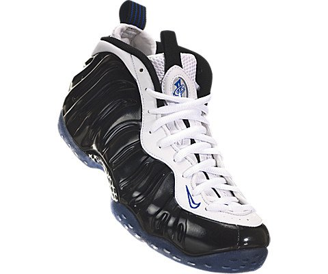 Nike Men's Air Foamposite One Black/White/Game Royal Basketball Shoe 10 Men US