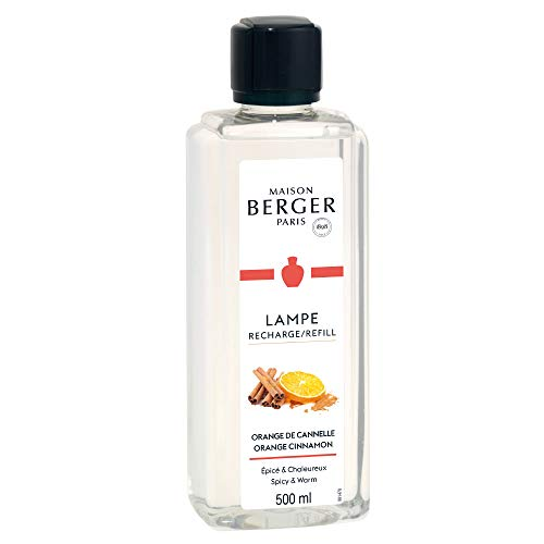 Orange Cinnamon | Lampe Berger Fragrance Refill by Maison Berger | for Home Fragrance Oil Diffuser | Purifying and perfuming Your Home | 16.9 Fluid Ounces - 500 milliliters | Made in France