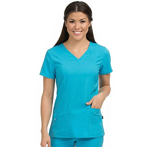 sky blue scrubs - 8