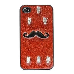 YULIN Shining Skull Mustache Pattern Hard Case for iPhone 4/4S